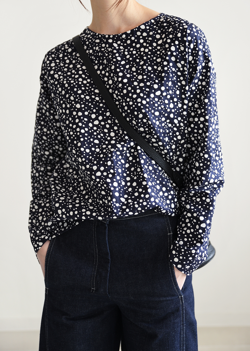 [ROBE] DOTS BLOUSE(-30%SALE)