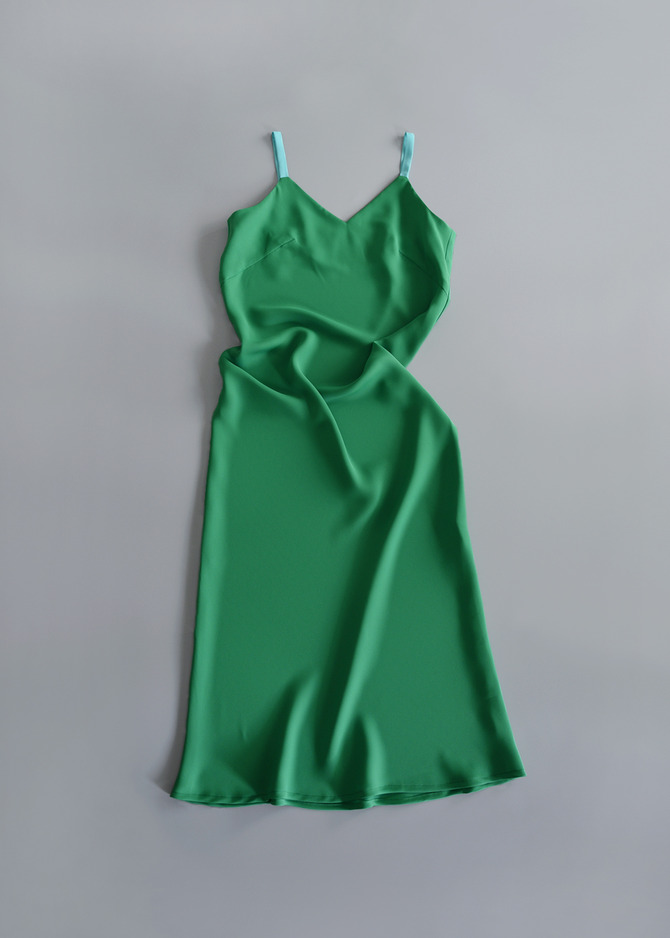 [ADD ROBE] MIDI SLIP DRESS (GREEN)