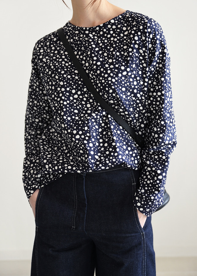 [ROBE] DOTS BLOUSE