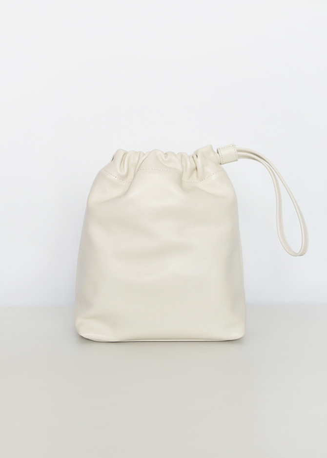 Drawstring Leather Pouch