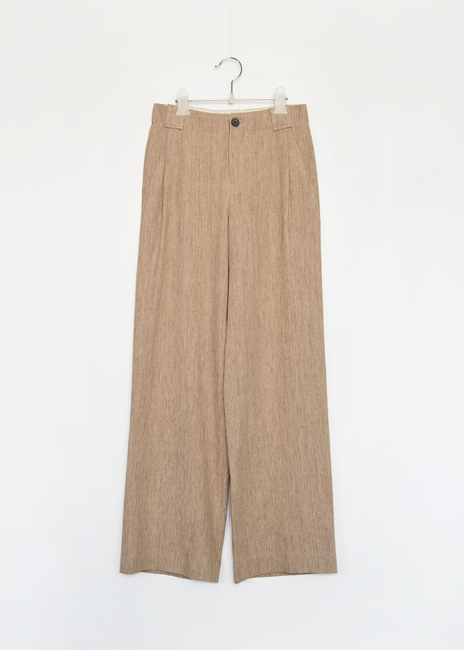 Linen pintuck Trousers