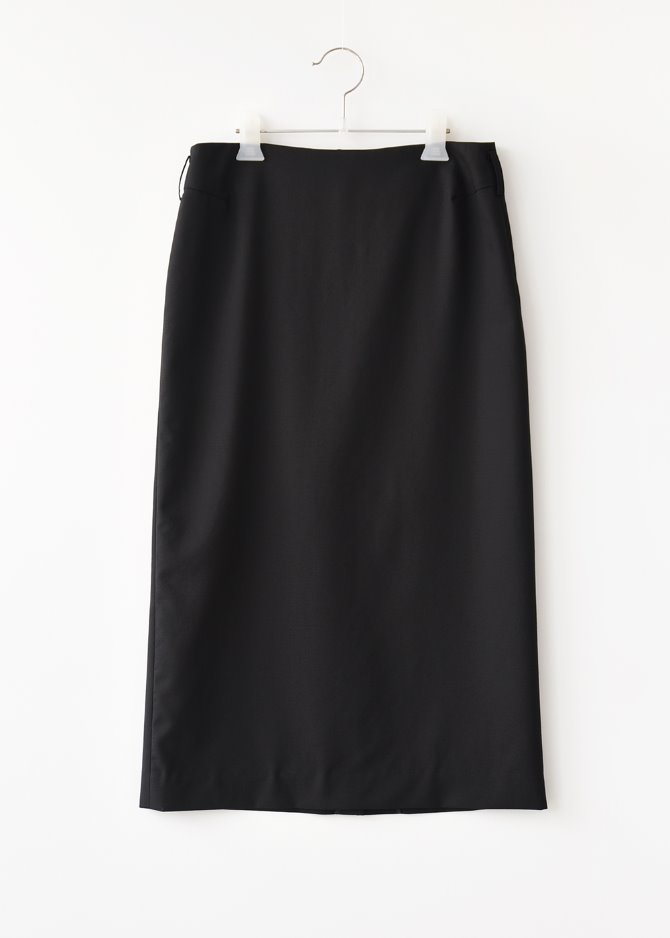 H-lined Lux Wool Skirt