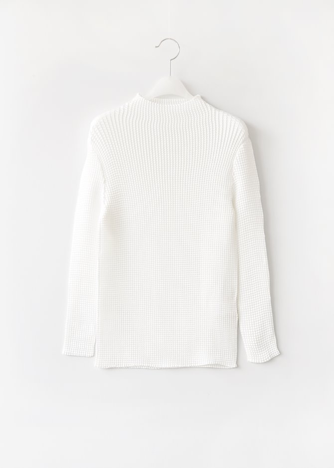 Long-sleeve Pleats Top