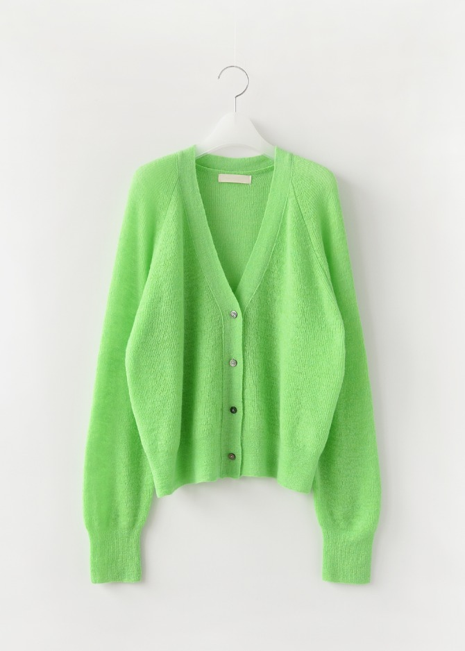 Kid-mohair Colour Cardigan