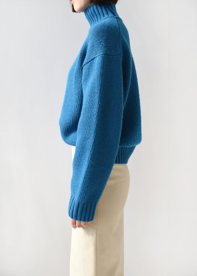 [Romanticize] Shetland Wool Turtleneck Knit (Blue)