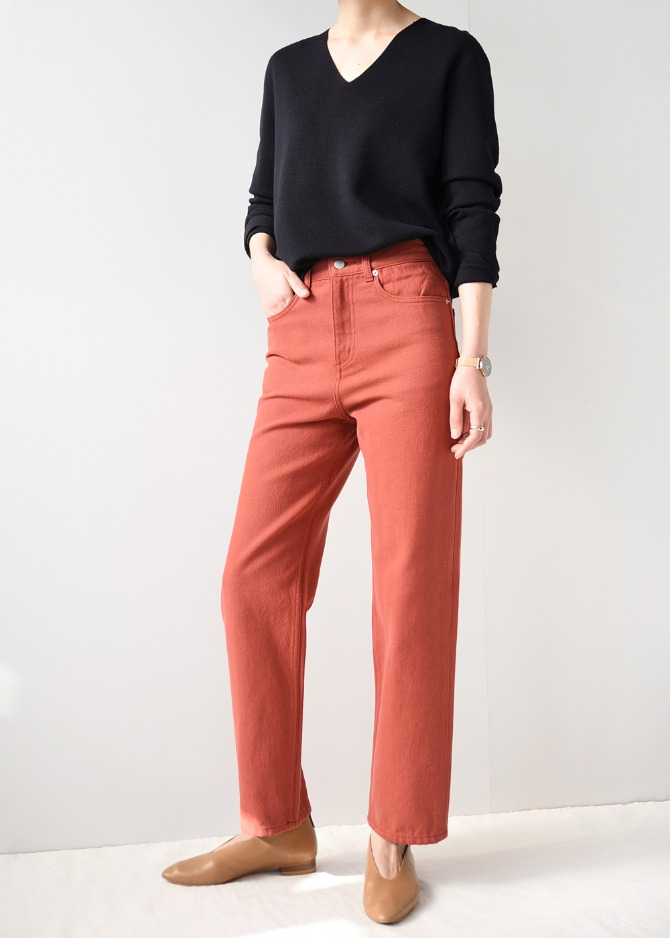 [Romanticize] Herringbone Pants (Brick)