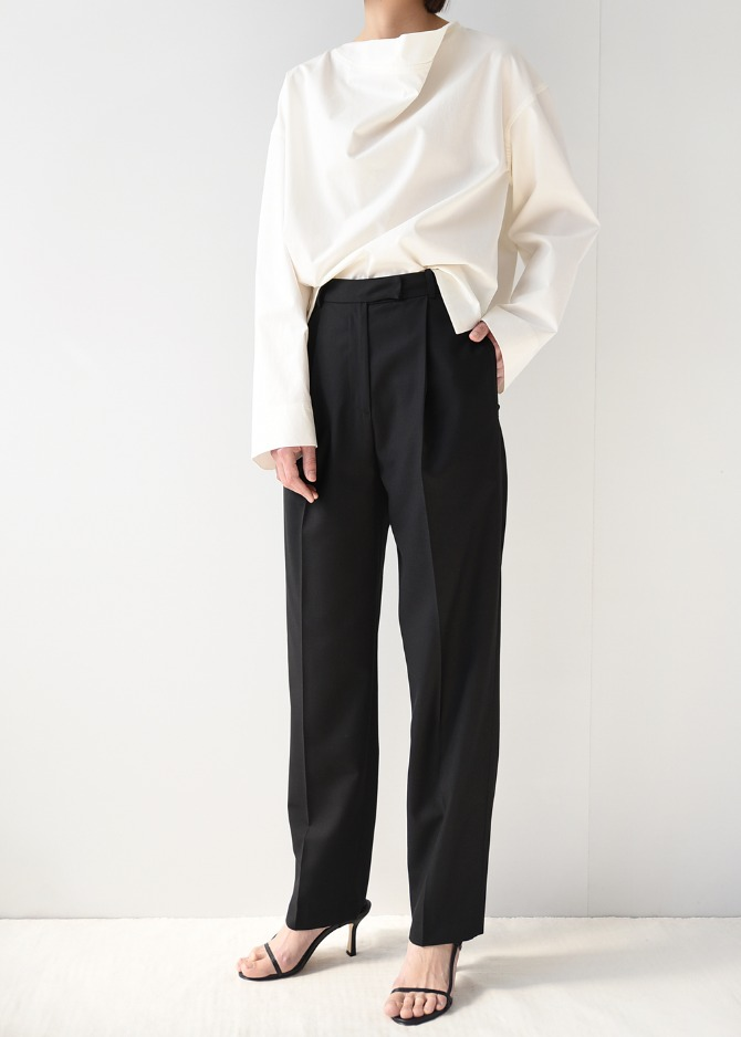 Pintuck Pleated Trousers