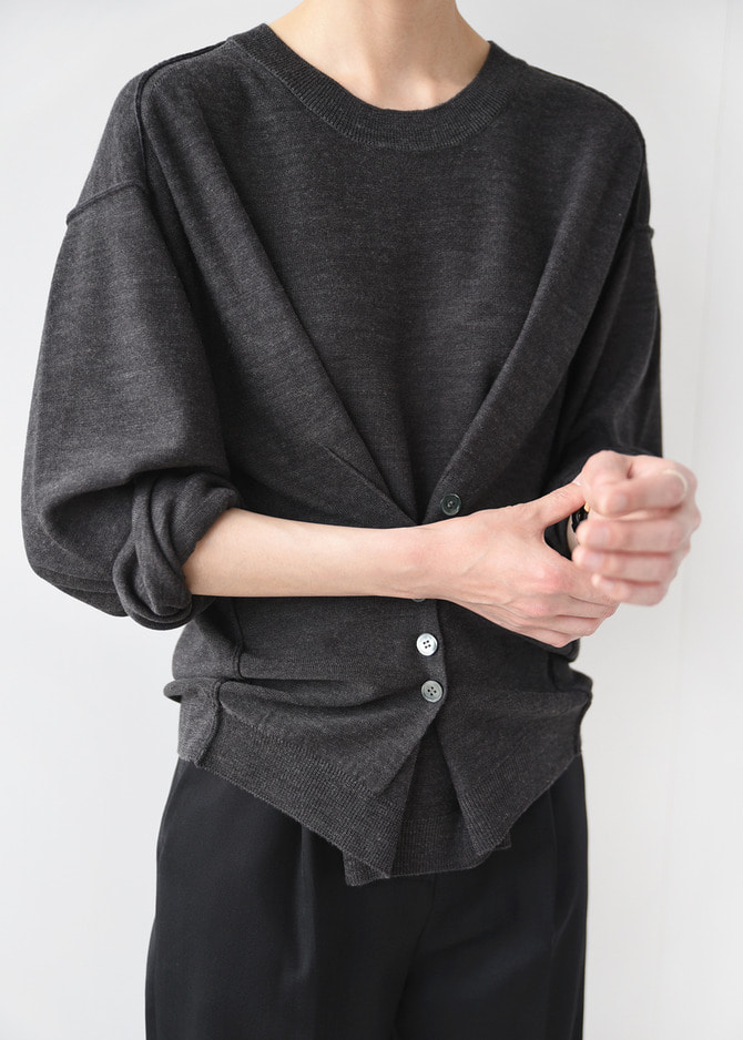 2-way Button Down Knit