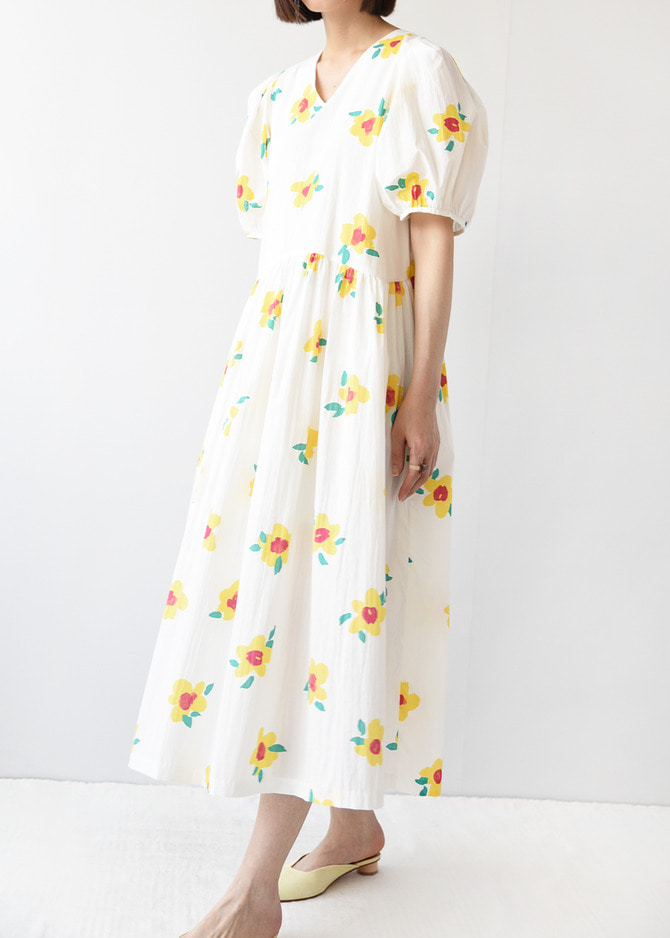 Flower Puff Dress