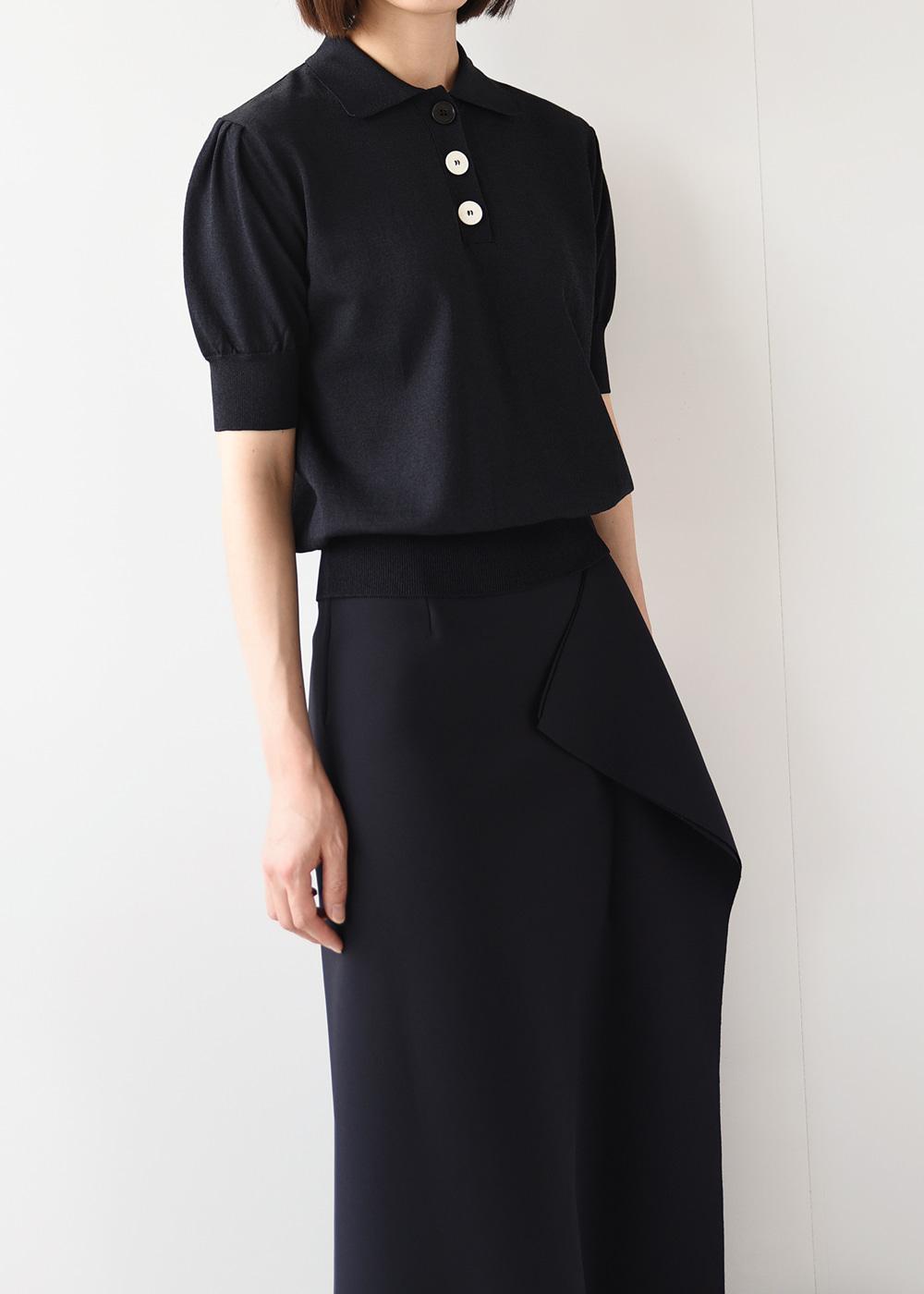 Button Collar Knit