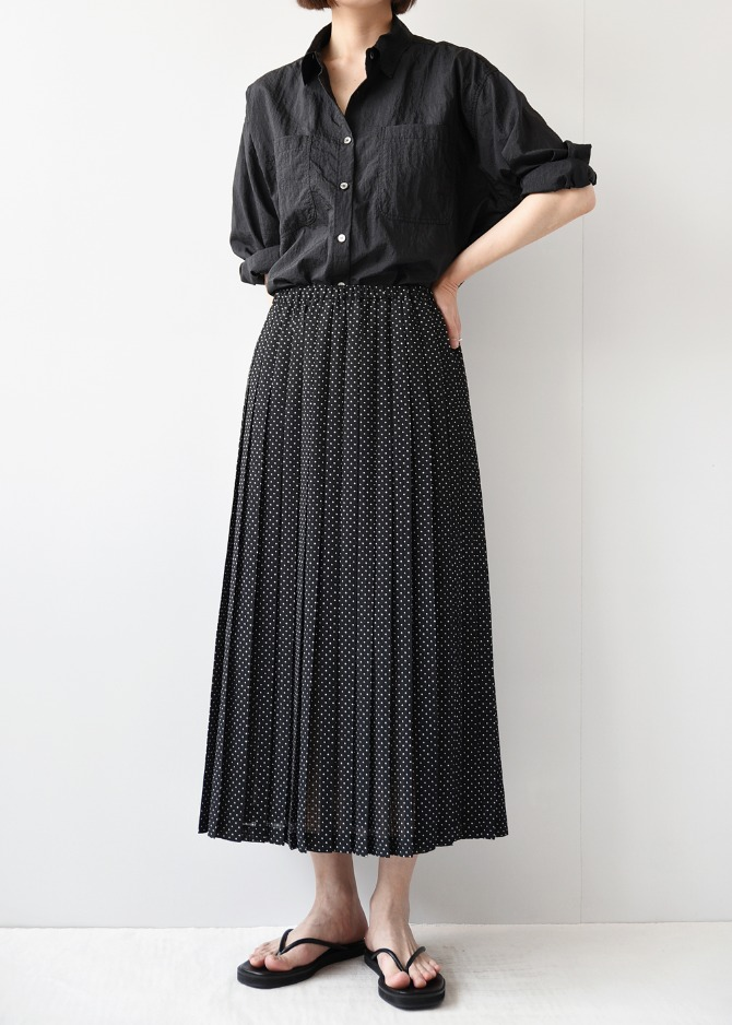 Dots Pleats Skirt