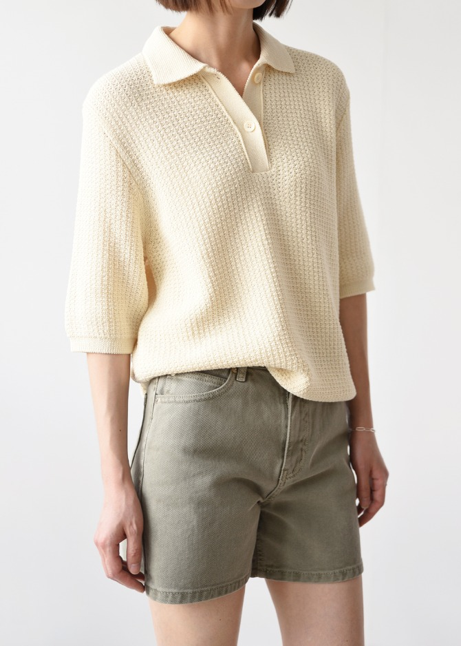 Textured Collar Knit